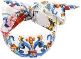Dolce & Gabbana Majolica print headband - kids - Silk/plastic - One Size