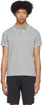 Moncler Grey Logo Patch Polo