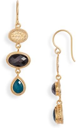 Anna Beck Triple Drop Stone Earrings