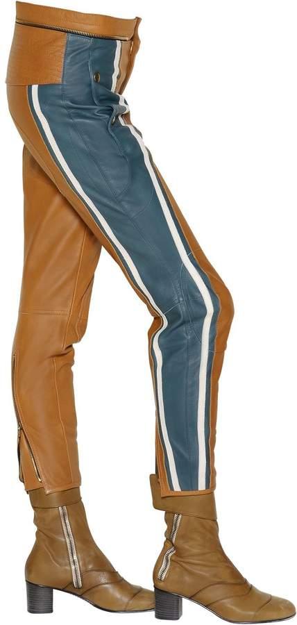 Chloé Leather Biker Pants