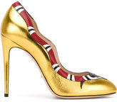Gucci metallic snake pumps - women - Leather - 35