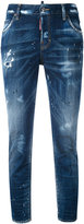 DSQUARED2 distressed straight jeans - women - Cotton/Spandex/Elastane - 38