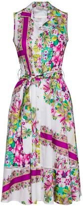 Conquista Floral Print Dress With Belt