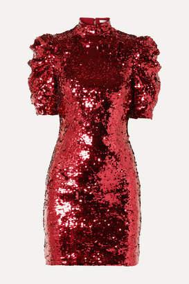 Alice + Olivia Alice Olivia - Brenna Sequined Tulle Mini Dress - Red