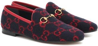 Gucci Jordaan GG wool loafers