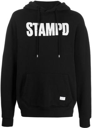 Stampd Long Sleeve Logo Print Hoodie