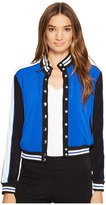 XOXO Button Up Bomber Jacket w/ Rib