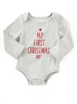Mud Pie Infant My First Christmas Bodysuit