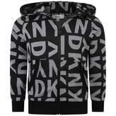 DKNY DKNYBoys Black Jacquard Logo Zip Up Top