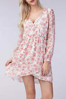 Honey Punch Long-Sleeve Floral Dress