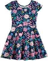 Girls 4-10 Jumping Beans Print Skater Dress