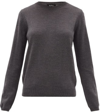 A.P.C. Savannah Merino-wool Sweater - Grey