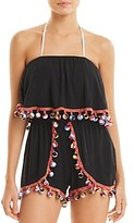 Thumbnail for your product : Surf.Gypsy Pom-Pom Romper Swim Cover-Up