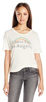 Goodie Two Sleeves Juniors I Love You Los Angeles Graphic Tee