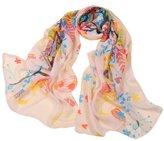 Bestgift womens Colorful Pretty Bird Print Fashion Scarf 160*50cm