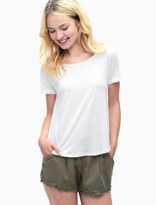 Splendid Very Light Jersey Drape Back Tee