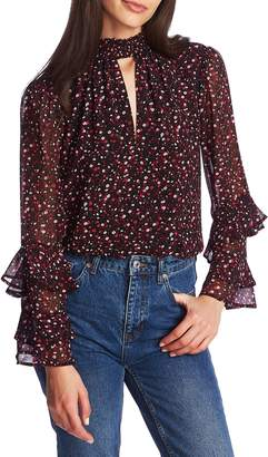 1 STATE 1.STATE Ditsy Floral Ruffle Sleeve Blouse