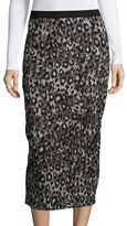 Tracy Reese Animal Print Pencil Skirt