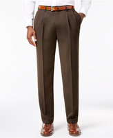 Louis Raphael Men's Straight-Fit Double-Pleated Dress Pants