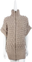 Organic Zip-Up Cocoon Sweater - Cream Melange
