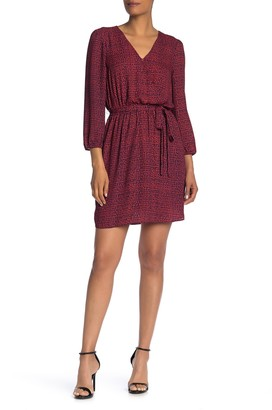 Dr2 By Daniel Rainn Faux Wrap 3/4 Sleeve Dress