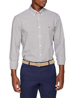 Tommy Hilfiger Men's Classic Gingham Shirt Casual, Multicolour (Eiffel Tower/Bright White 908), Small