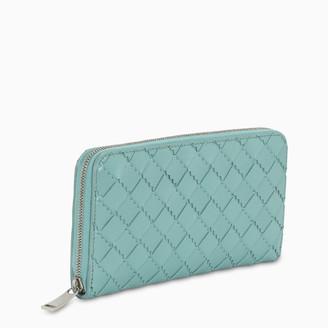 Bottega Veneta Teal zip around wallet