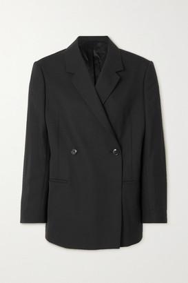 Totême Loreo Oversized Double-breasted Woven Blazer - Black