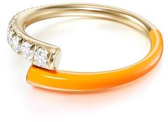 Melissa Kaye 18kt yellow gold and diamond Lola ring