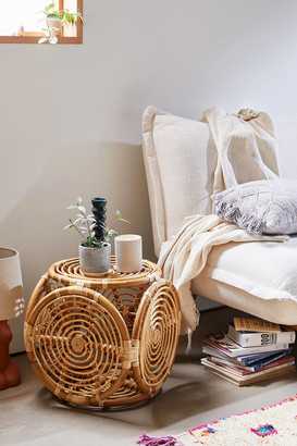 Urban Outfitters Concentric Rattan Stool