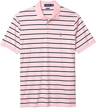 Polo Ralph Lauren Classic Fit Soft Cotton Polo (White/French Navy) Men's Clothing