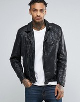 Pepe Jeans Pepe Godot Leather Biker Jacket