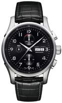 Hamilton Jazzmaster Maestro Automatic Chronograph Leather Strap Watch, 45mm
