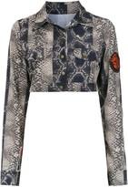 AMIR SLAMA cropped printed jacket