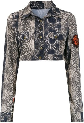AMIR SLAMA Cropped Printed Jacket
