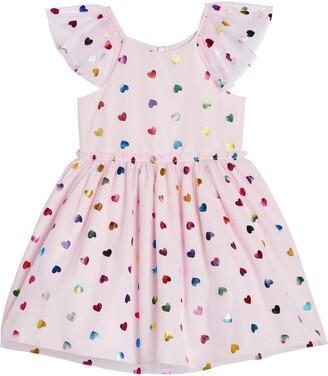 Pippa & Julie Kids' Flutter Sleeve Party Dress