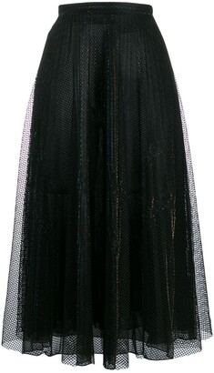 Marco De Vincenzo metallic midi skirt