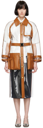 Fendi Transparent and Brown Long Trench Coat