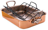 Mauviel Copper Tri-Ply Roaster with Rack