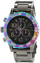 Nixon Unisex Watch 42 Gunmetal/Multi Analog Quartz Stainless Steel A0371698 00