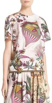 Etro Women's Animal Postcard Print Cotton Top