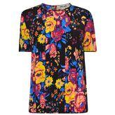 Diane von Furstenberg Floral Silk T Shirt