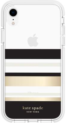 Kate Spade iPhone XR Striped Protective Phone Case
