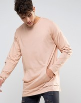 Asos Super Longline Long Sleeve T-Shirt With Hem Extender