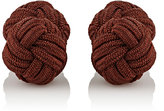 Barneys New York Men's Knotted Silk Cufflinks-BROWN