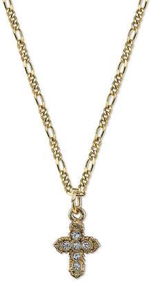 1928 Jewelry 1928 Religious Jewelry Religious Jewelry 16 Inch Figaro Cross Pendant Necklace