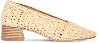 Miista 40mm Noa Raffia Pumps