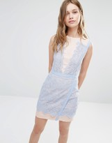 Greylin Lana Two Tone Lace Dress