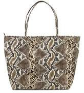 Carlos Falchi Yasmine East West Tote Women Synthetic Tan Tote.
