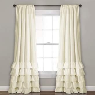 "Lush Decor Set of 2 40""x84"" Allison Ruffle Window Curtain Panels"